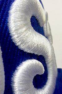 3D-вышивка на бейсболках