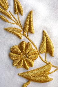3D вышивка на ткани