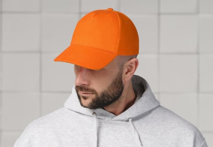 Бейсболка для вышивки оранжевая