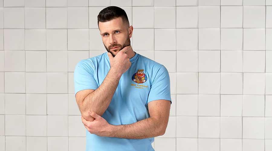Мужские футболки для вышивки логотипа