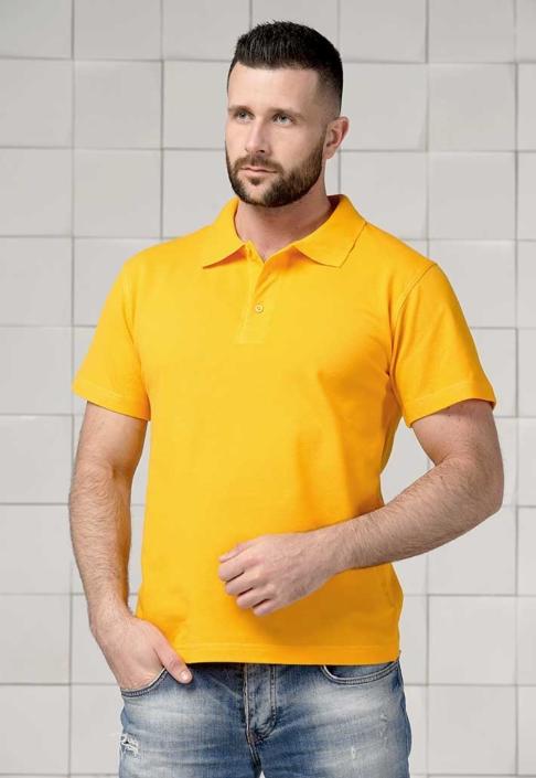 Поло мужское желтое