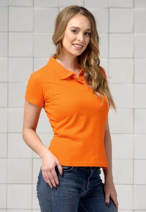 Поло женское оранжевое