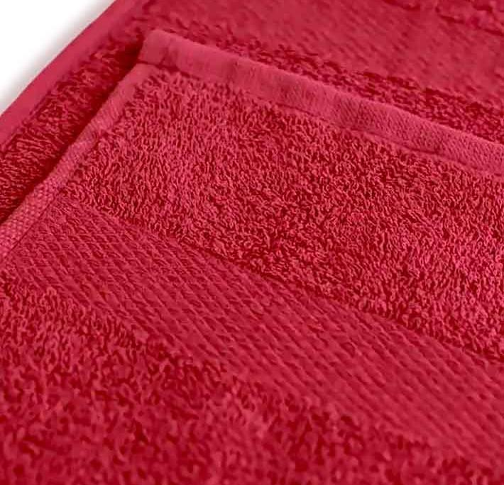 Полотенце под вышивку бордо