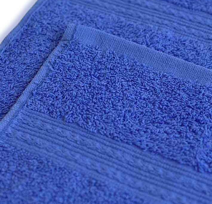 Полотенце под вышивку синее