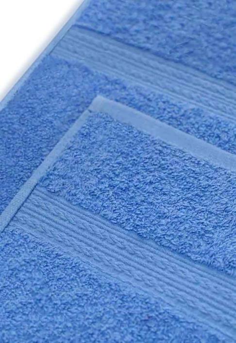 Полотенце под вышивку голубое