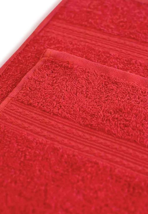 Полотенце под вышивку красное
