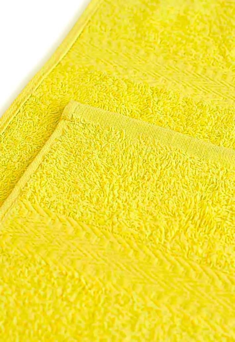 Полотенце под вышивку лимонное