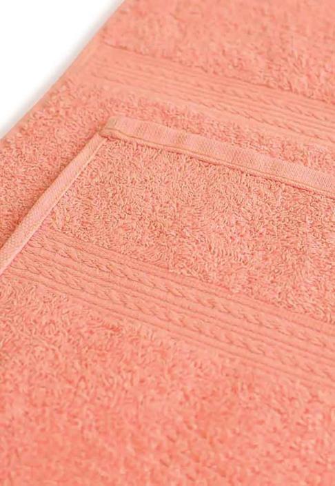 Полотенце под вышивку персиковое