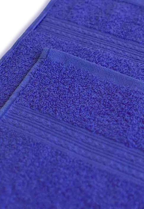 Полотенце под вышивку темно-синее