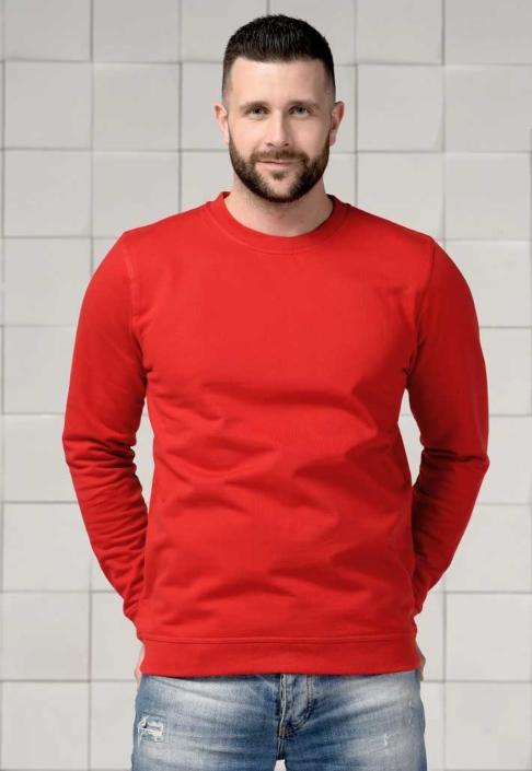 Толстовка для вышивки красная