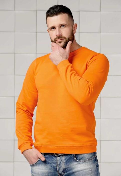 Толстовка для вышивки оранжевая