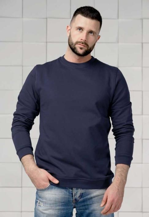 Толстовка для вышивки темно-синяя