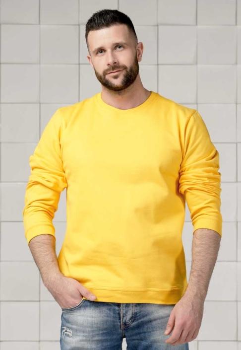Толстовка для вышивки желтая